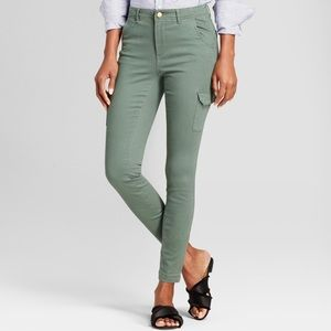 A New Day green stretch skinny jeans size 14